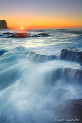 Avalon Sunrise (-yury-) Tags: ocean longexposure sea sky sun seascape beach water sunrise canon rocks waves magic sydney australia nsw 5d avalon    mywinners abigfave anawesomeshot ultimateshot