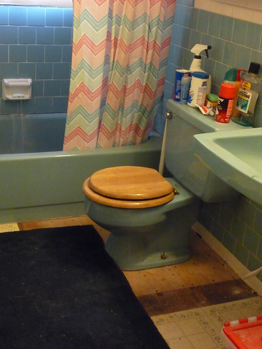 subfloor under the toilet by you.
