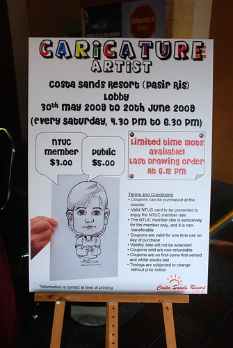 Caricature live sketching for Costa Sands Resort Pasir Ris Day 1 - b