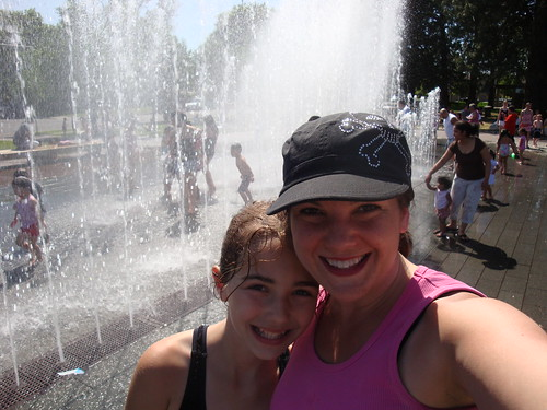 Lisa & Lexi at the City Park fountains