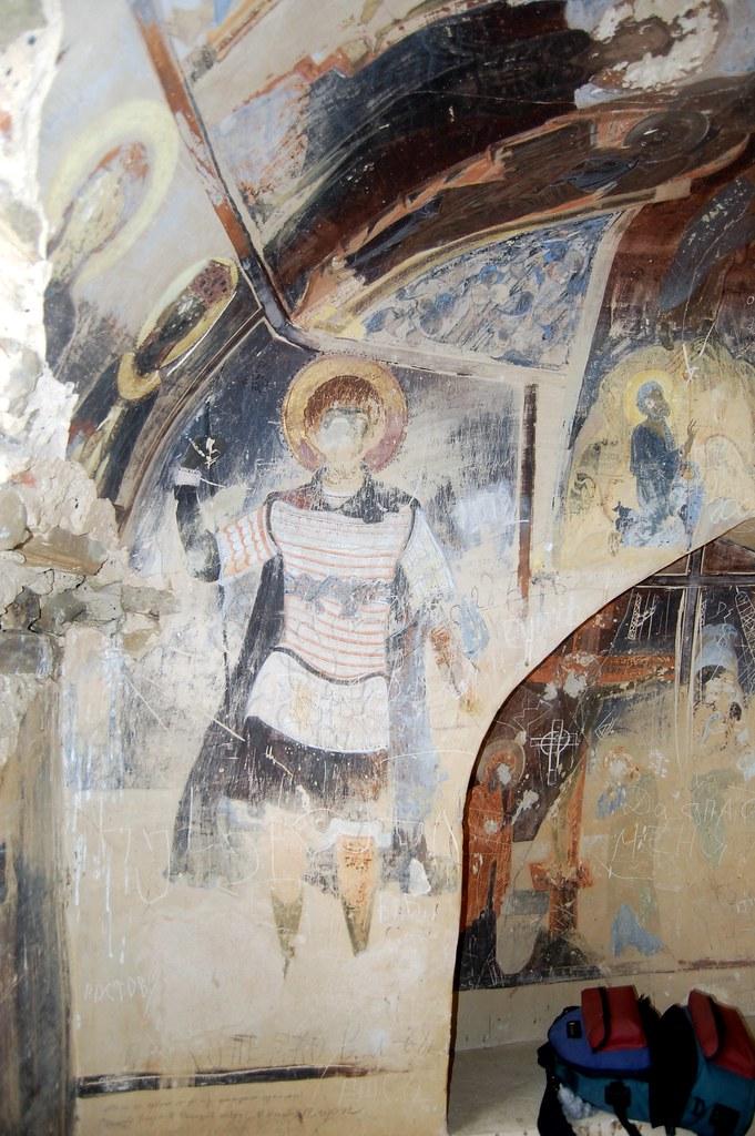Fresco from David Garedji Cave Monastery