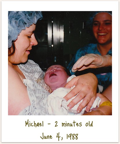 Michael - 2 minutes old framed