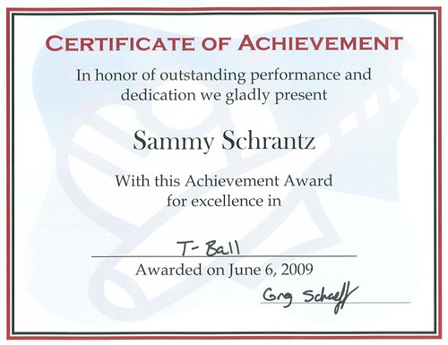 Sammy Certificate