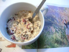 lemon berry coconut muesli (buttermilk*blue) Tags: summer breakfast cherry lemon strawberry berry coconut raisins yogurt oats refreshing soymilk muesli birchermuesli swissoats flavoredraisins