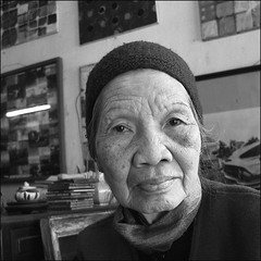 A life story behind those eyes (NaPix -- (Time out)) Tags: old portrait blackandwhite bw woman 6x6 senior studio artist vietnamese mother vietnam explore elder hanoi 500x500 explored napix canoneosdigitalrebelxsi