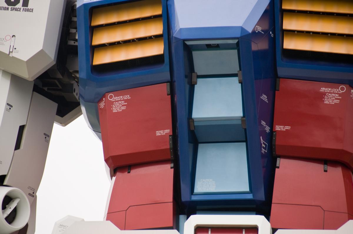 Gundam tamaño real pecho
