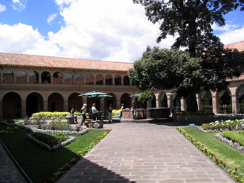 A Courtyard at the Hotel Monasterio