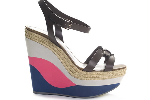 Tricolor Wedge Platforms With Leather Straps (Images Courtesy Sergio Rossi)