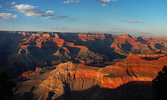 Grand Canyon: sunset panorama from Yavapai point (Vin on the move) Tags: travel sunset red arizona panorama evening us holidays grandcanyon canyon stitched yavapaipoint 5photosaday vin60 nukond70
