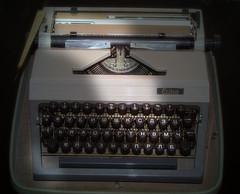 Erika (aistora) Tags: old classic typewriter analog vintage ancient 60s keyboard portable technology mechanical sofia antique machine bulgaria german roller ddr ribbon erika analogue russian past 20thcentury cyrillic briefcase typing bulgarian carrige maistora