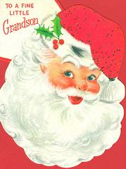 Hallmark Santa Card (contrarymary) Tags: santa christmas holiday vintage ephemera grandson santaclaus merrychristmas greetingcard christmascard hallmark vintagechristmas hallmarkcard  vintagechristmascard  hallmarkcardcompany