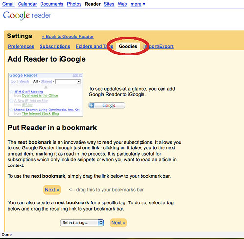 How to Make Google Reader into a Bookmark