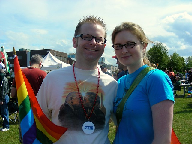 John Aronno and Heather James at Pride picnic