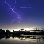 Lightning over MacArthur Bridge No. 1 麥帥一橋閃電
