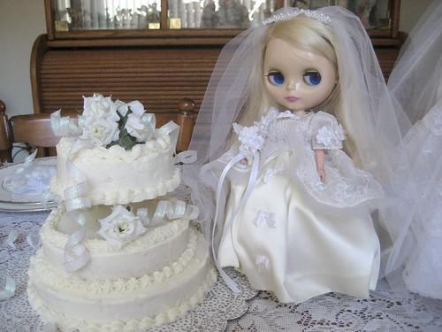 Veronica as a bride