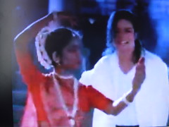 Michael Jackson with an Indian Dancer (kiranparmar1) Tags: music michael dance indian dancer jackson michaeljackson songs indiandancer kathak blackorwhite