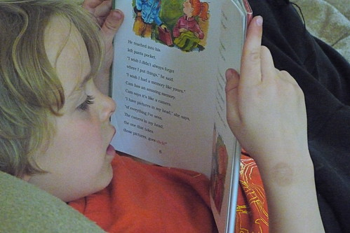 he's reading!