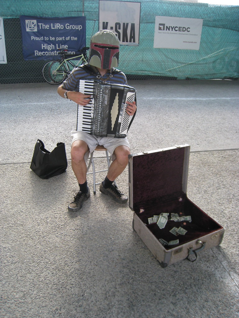 Boba Fett, accordionist