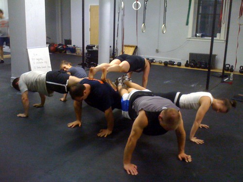 team push-up!
