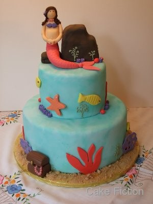 Under the Sea with Baby and me Mermaid Cake