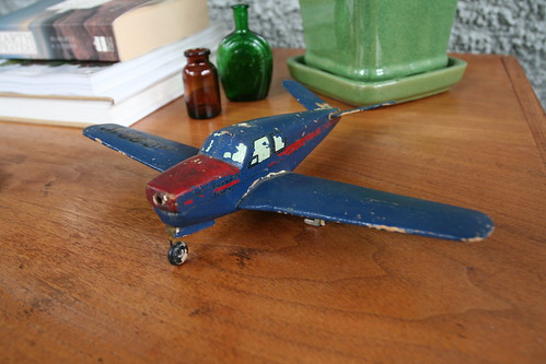 Antique Wooden Toy Plane