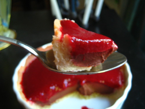 Sour Cream Ganache-Cooked Strawberry Puree Tart