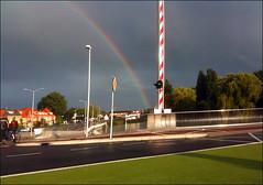 Somewhere.... (Emil de Jong - Kijklens) Tags: regenboog rainbow brug alkmaar friesche friesebrug