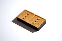 Laser cut dominoes