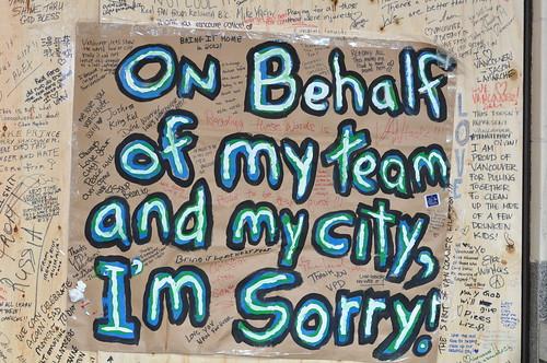 Canucks-Fans entschuldigen sich