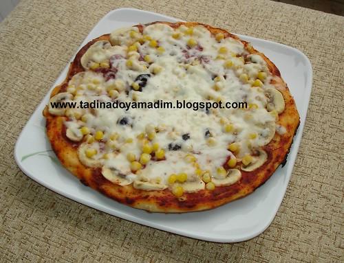 tavada kolay pizza...