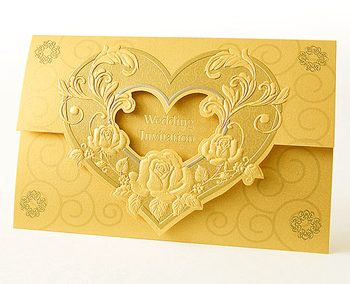Gold Style Wedding Invitations