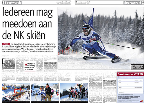 Dutch Ski Champs in AD Newspaper