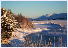 The nature is my live (joningic) Tags: winter snow mountains nature creek river iceland akureyri potofgold goldstaraward