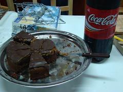 Torta de chocolate y Cocacola helada
