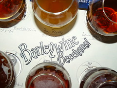 Taster tray at the Beveridge Place Barleywine Bacchanal