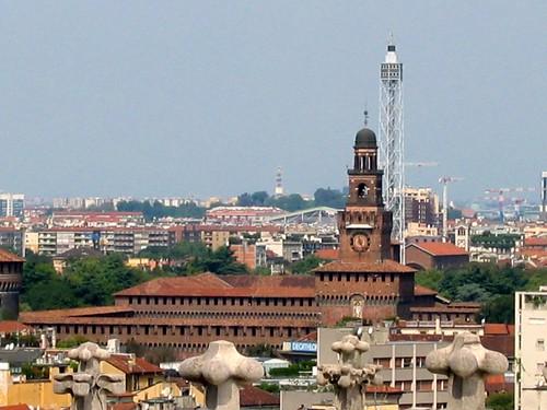 Castello Sforzesco, la torre del Filarete (www.flickr.com)
