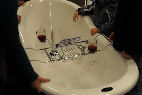 バス用のワインホルダー