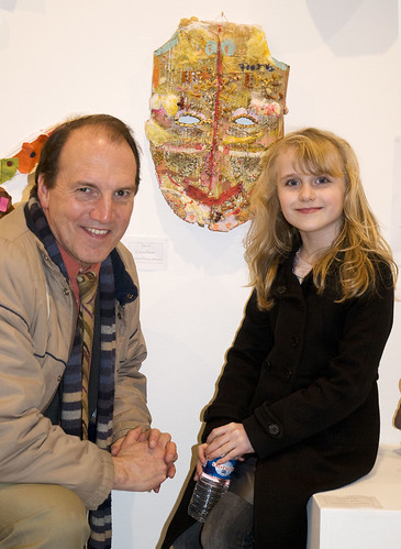 Simon with one of the young exhibitors