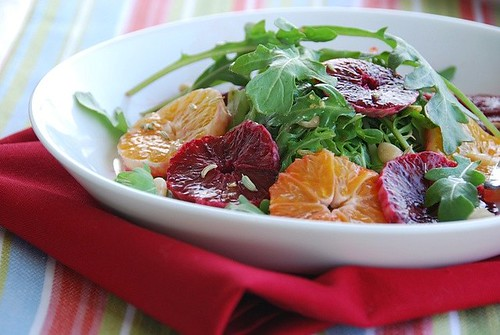 citrus and arugula salad