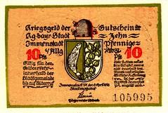 Immenstadt, 10 pf, (Iliazd) Tags: germany inflation notgeld papermoney germancurrency 19181922 emergencymoney germanpapermoney