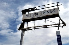 """Needful Things"" (shadowplay) Tags: arizona abandoned ice sign signage uhaul oddness propane casagrande needfulthings"
