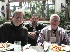 Valdis Krebs, Marc Smith and Barry Wellman at the 2009 Sunbelt INSNA Conference in San Diego