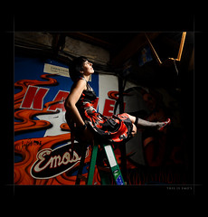 this is emo's (Dustin Diaz) Tags: lighting red portrait dress emos ladder strobist erincaton sb900