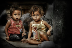Street Children of Baclaran Market (Mio Cade) Tags: poverty street travel portrait food baby girl photography community toddler asia child rice market father philippines poor eat parent hunger abandon manila feed fed streetchildren atrisk baclaran gorls