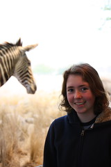 Emma, with Zebra