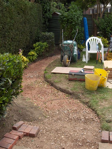 Indian Sandstone Patio and Lawn Image 10