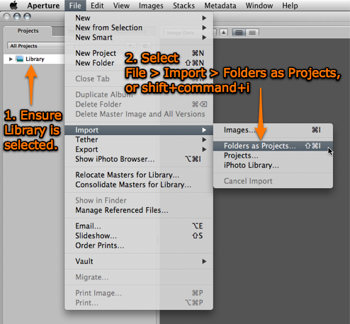 Step 04 -- Import Folders as Projects