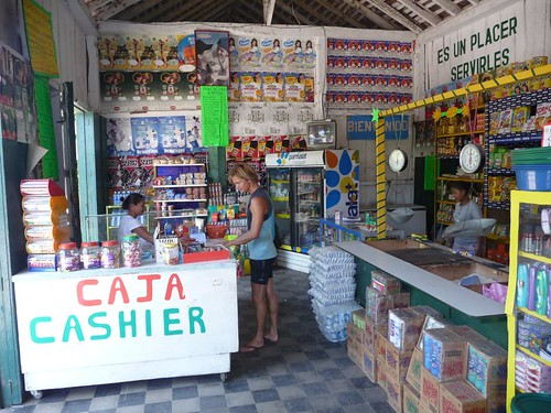 Shopping in the Jehova shop on Isla Ometepe - Nicaragua.