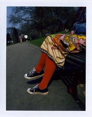 orange tights (a.haser) Tags: tights converse polaroid340polaroidlandcameranottingham