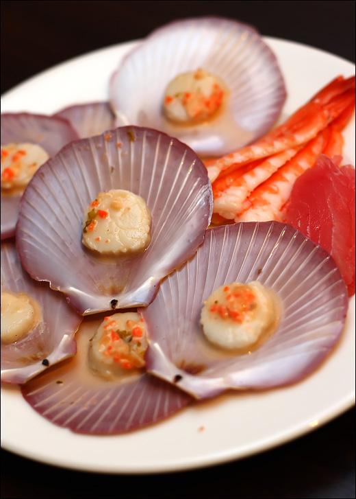 scallop-ebi-sashimi